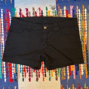 7 for all Mankind Black Denim Shorts
